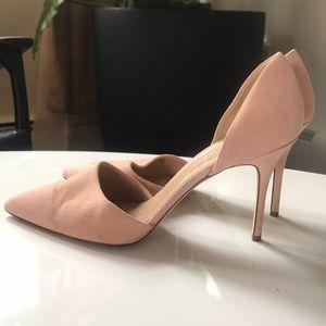 JCrew suede heels